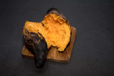 Orange sweet potato grilled (high in vitamin A vitamin C and vitamin B6)