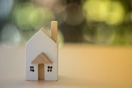 Home real estate mortgage concept : House miniature model