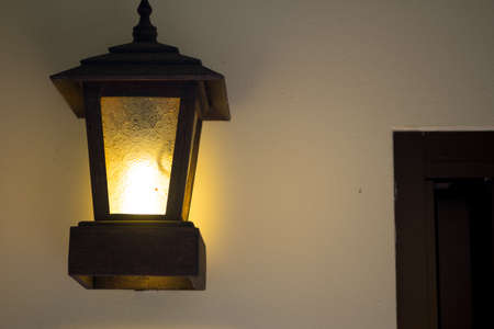Old decoration lantern in Thai ancient style house