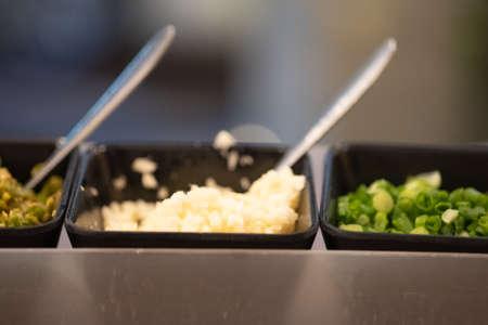 Set of sauce for shabu shabu style with hot pot