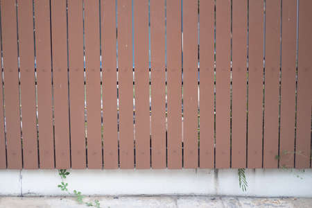 Wooden fence in front of home or residential terrace