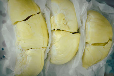 Fresh Durian fruit. Durian is a popular tropical fruit in Thailand. Durian is king of fruit from Thailand. Banque d'images