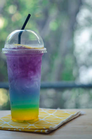 Tropical drink and italian soda are the fancy drinks that will refreshing. Rainbow colorful drinks