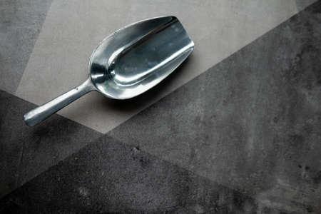 Stainless metal scoop. Scoop is used in cooking Reklamní fotografie
