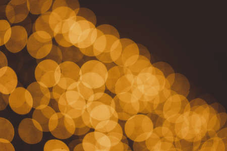 Abstract orange bokhe night light for background material.