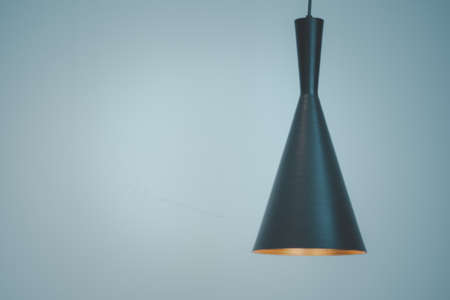 Modern black decorative lamp hanging from the ceiling