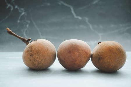 Group fresh Santol fruit. Santol tropical fruit