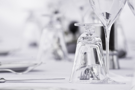 Luxe restaurant table setting