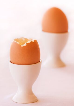 Boiled Egg isolated on a white background