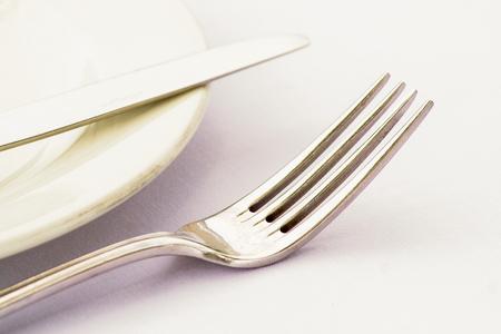 side plate: Cutlery on a side plate high key