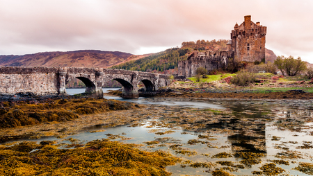 west coast: Eilean Donan Castle on the west coast of Scotland in the United Kingdom