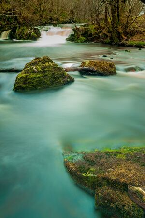 highland: Long exposure image of a beautifull river in Scotland