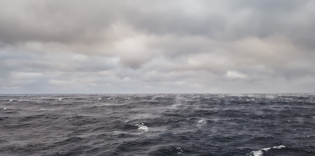 Ocean water evaporates rapidly when cold dry air blows upon it - rare phenomenon