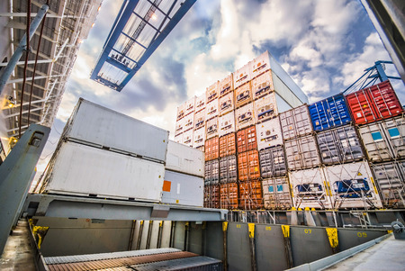 Container Cargo Transfer Operation in Durban South Africa