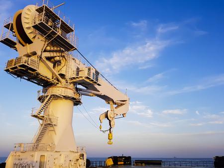 Knuckle jib crane type for heavy 250 tonnes lifting mount aboard offshore vessel Reklamní fotografie
