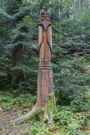 totem stake in the forest