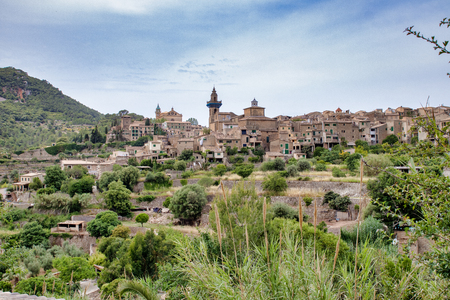 Valldemossa Old town on the mountain in Majorca