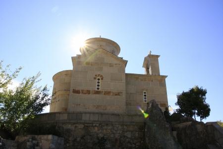 ortodox: Ortodox church with sunburst, Montenegro, Balkans