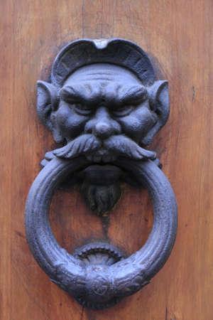 doorknocker: doorknocker detail, Florence, Italy.
