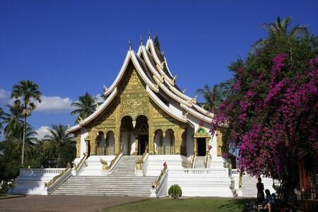 Buddhist Temple, Luang Prabang, Laos Banco de Imagens