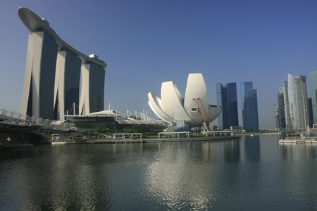 during the day: Marina Bay during the day, Singapore