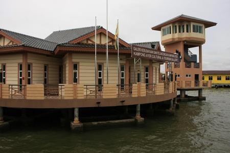 stilts: Tourist center, Kampong Ayer, Bandar Seri Begawan, Brunei, Southeast Asia