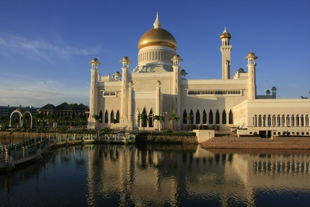 Sultan Omar Ali Saifudding Moskee, Bandar Seri Begawan, Brunei, Zuidoost-Azië