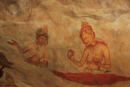 Wall painting, Sigiriya, Sri Lanka