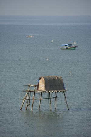 stilt house: Traditional stilt house, Halong Bay, Vietnam