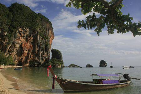 Longtail boat at Railay beach, Krabi, Thailand