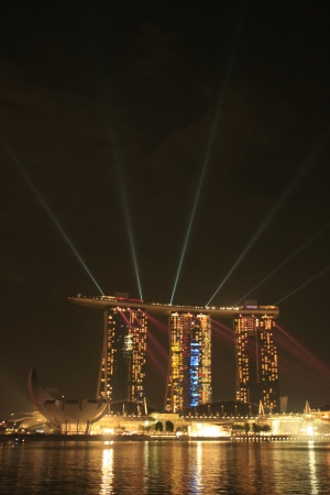 Light show at Marina Sand Bay Resort, Singapore Stock Photo - 15768149