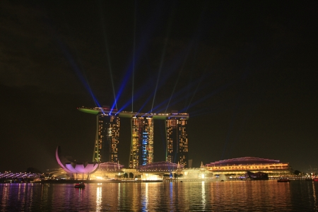 Light show at Marina Sand Bay Resort, Singapore