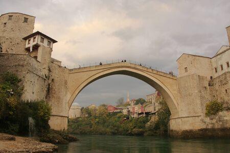 mostar: Stari Most, Mostar, Bosnia and Hercegovina Stock Photo