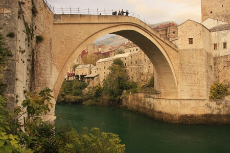 hercegovina: Stari Most, Mostar, Bosnia and Hercegovina Stock Photo