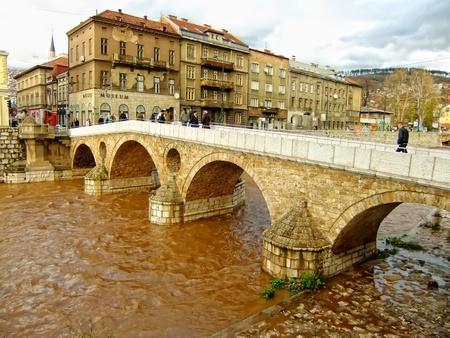 Latin Bridge on Miljacko river, Sarajevo, Bosnia and Herzegovina