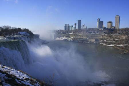 Niagara Falls in winter, New York, USA photo