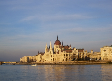 Parlament: Parlament Building with the Danbe River, Budapest, Hungury