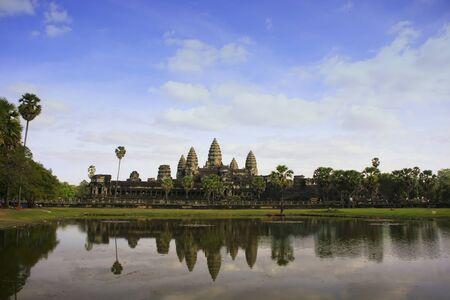 Angkor Wat temple, Siem Reap, Cambodia Фото со стока