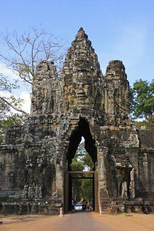 South Gate of Angkor Thom, Angkor area, Siem Reap, Cambodia photo