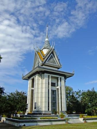 Commemorative stupa, Killing Fields, Phnom Penh, Cambodia
