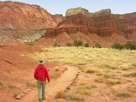Hiking in Capitol Reef National Park, Utah, USA photo