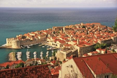 The Old Harbour at Dubrovnik, Croatia 写真素材