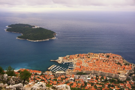 Dubrovnik Old Town and Lokrum island, Dubrovnik, Croatia photo