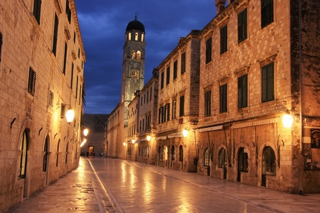 walled: Old town at night, Dubrovnik, Croatia