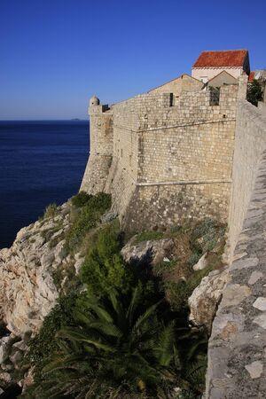 lawrence: City walls of Dubrovnik, Croatia Stock Photo