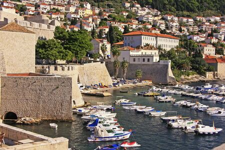 Old Harbour at Dubrovnik, Croatia photo