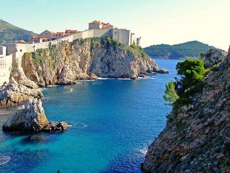 Bokar und die Altstadt von Dubrovnik, Kroatien Standard-Bild