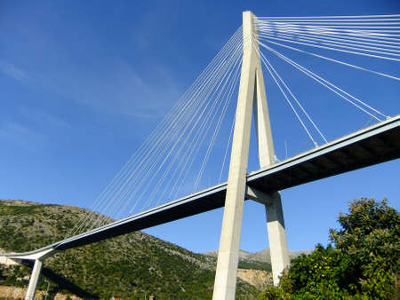 frank: Frank Tudmans Bridge, Dubrovnik, Croatia Stock Photo