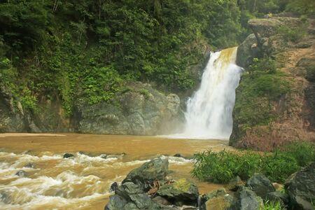 Salto Baiguate waterfall, Jarabacoa, Dominican Republic Banco de Imagens