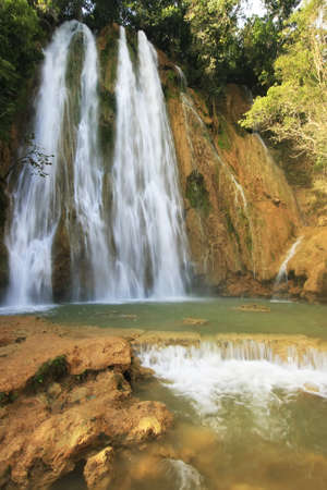 limon: El Salto de Limon waterfall, Dominican Republic